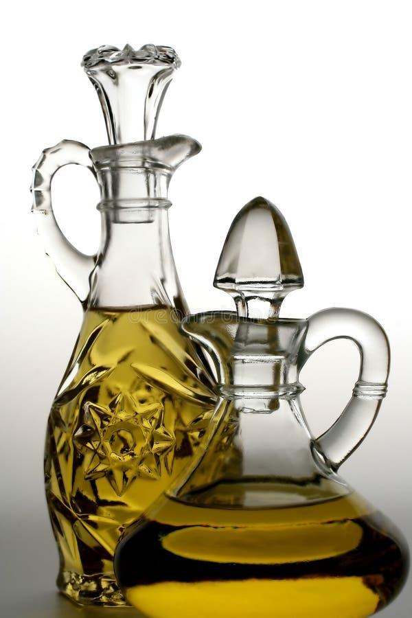 Bouteilles d'huile d'olive photographie stock libre de droits
