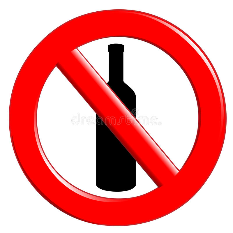 Bouteilles D Ingestion De Prohibition Image libre de droits