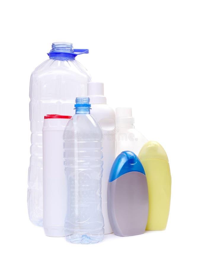 Bouteilles de plastiques photo stock