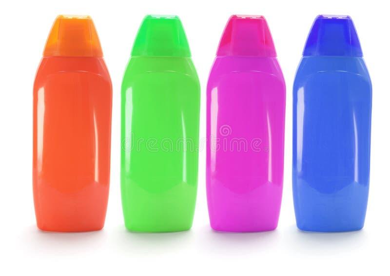 Bouteilles de shampooing photo libre de droits