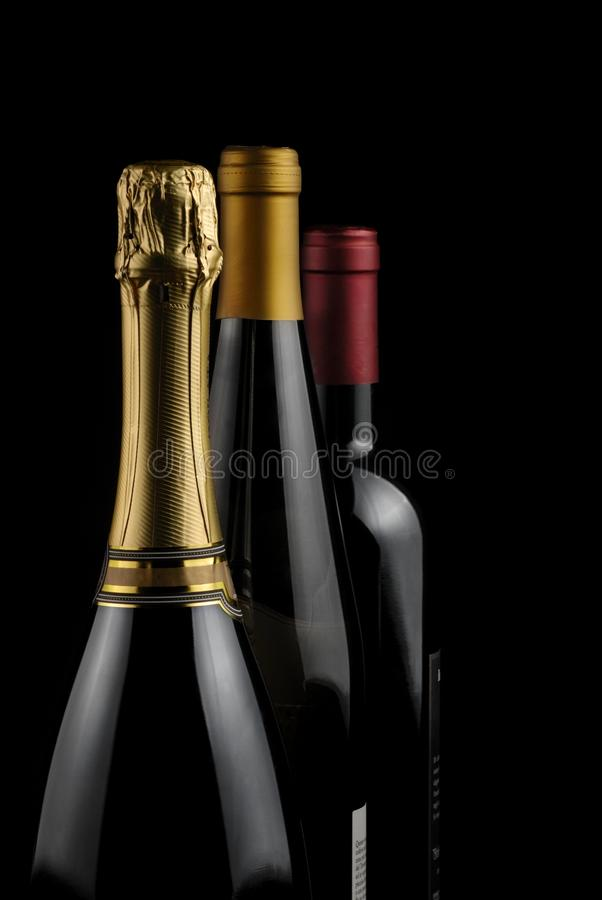 Bouteilles de vin image libre de droits