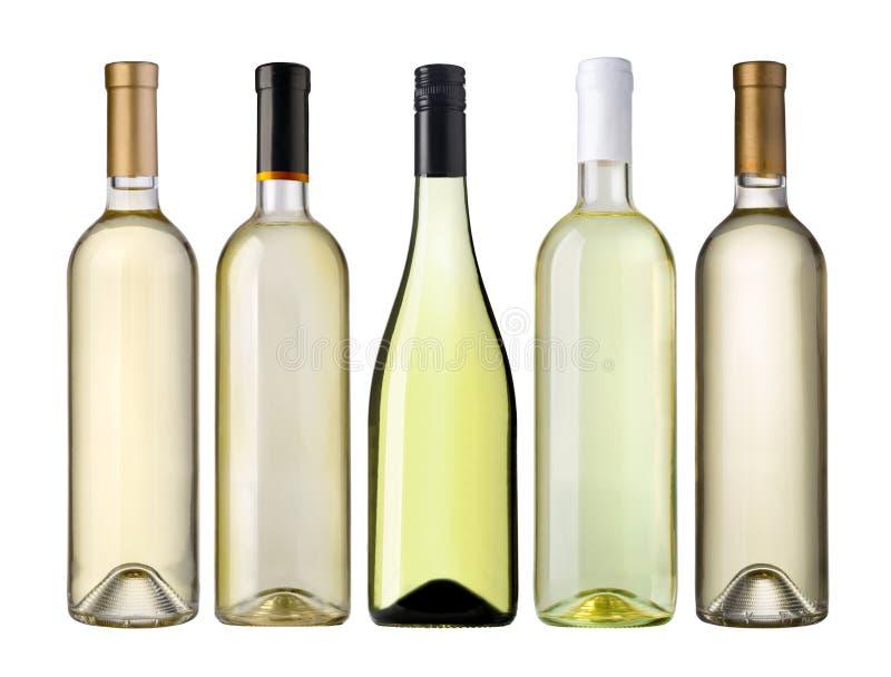 Bouteilles de vin blanc photographie stock libre de droits
