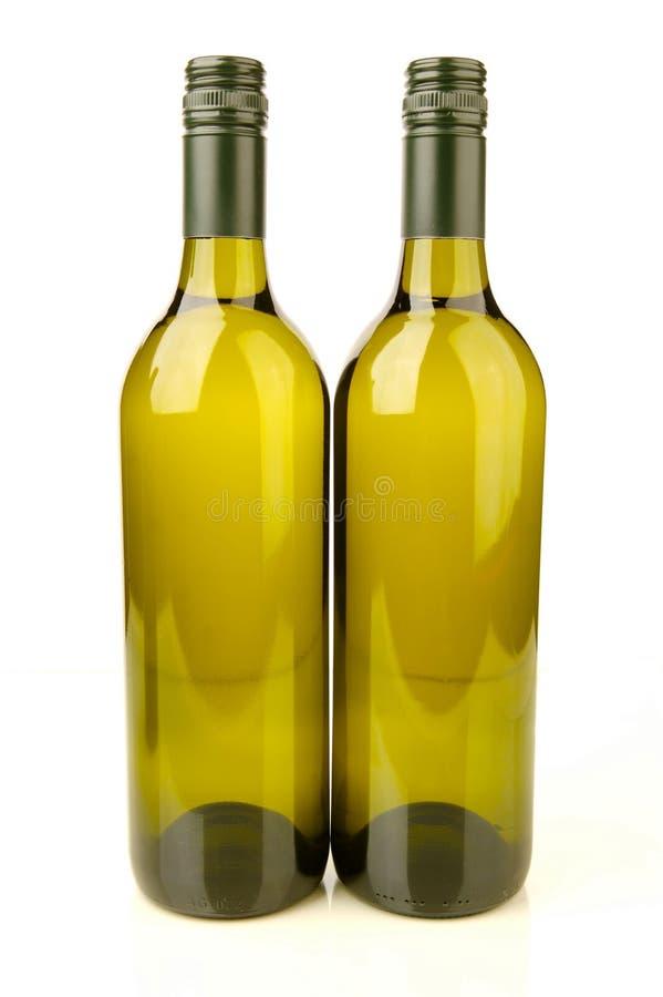 Bouteilles de vin blanc image stock
