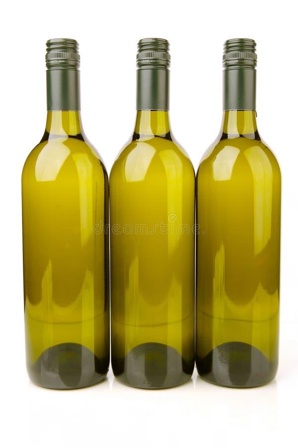 Bouteilles de vin blanc images libres de droits