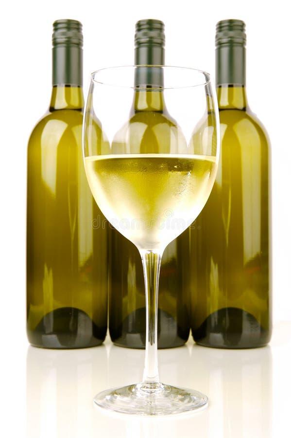 Bouteilles de vin blanc photographie stock