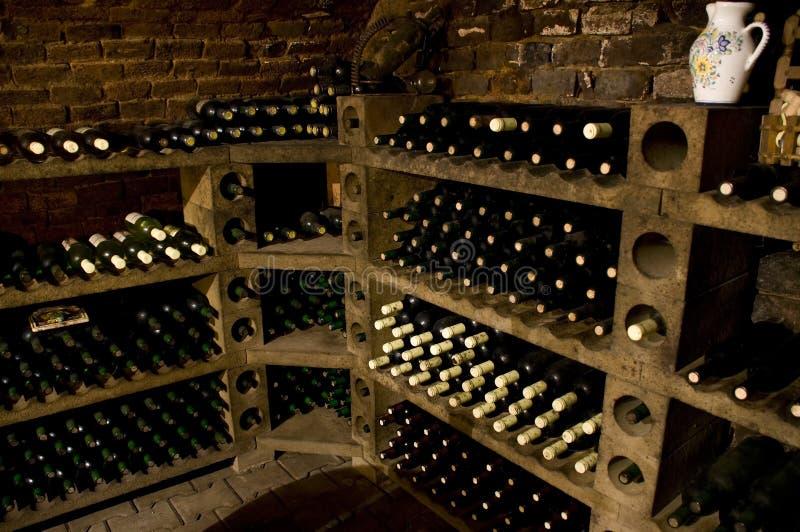 Bouteilles de vin de qualité photo stock