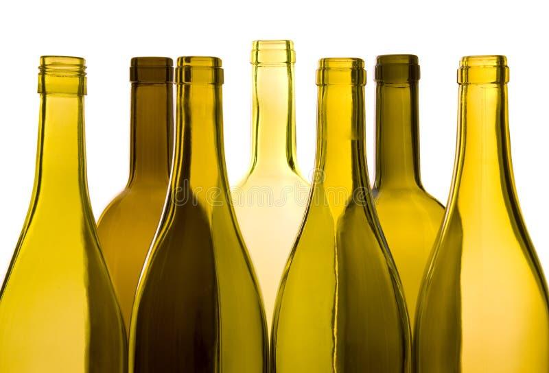 Bouteilles de vin vides photographie stock libre de droits