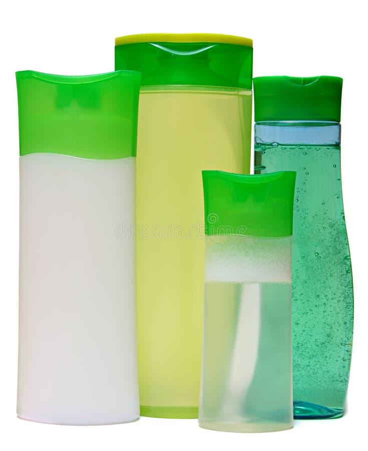 bouteilles en plastique avec du savon liquide le gel de douche ou image stock image du. Black Bedroom Furniture Sets. Home Design Ideas
