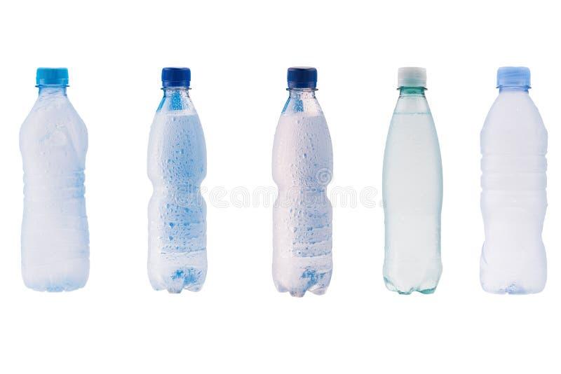 Bouteilles en plastique de l'eau image libre de droits