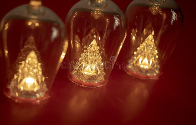 Bouteilles et lumières photographie stock libre de droits