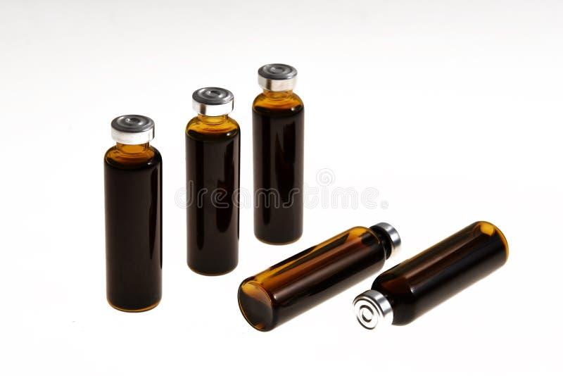 bouteilles orales de solution images libres de droits