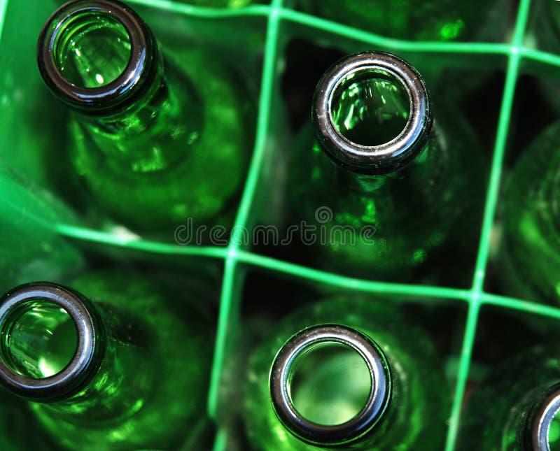 Bouteilles vertes photo stock