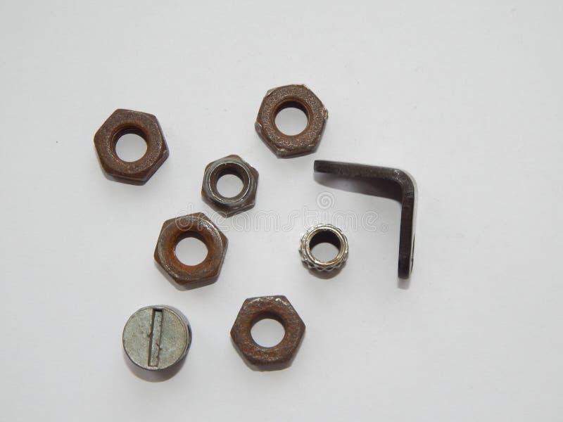 Bouten en noten voor reparatie stock fotografie