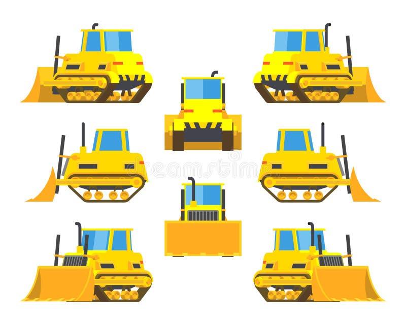 Bouteur jaune illustration libre de droits