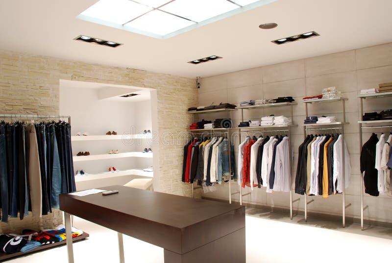 Boutique. Details on modern interior shop