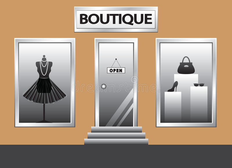 Boutique illustrazione di stock