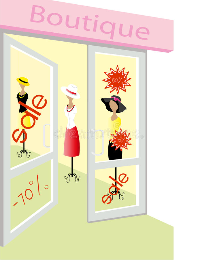 Boutique vector illustratie