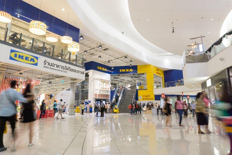 Boutique avant de brnach d'IKEA Bangna dans Bangna méga images libres de droits