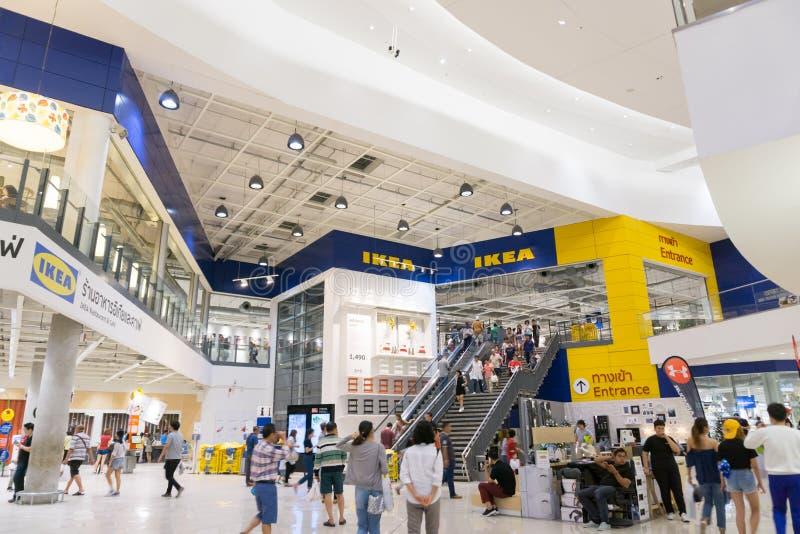 Boutique avant de brnach d'IKEA Bangna dans Bangna méga image libre de droits