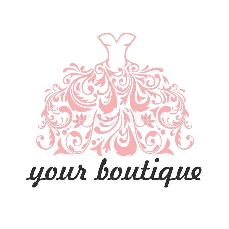 Boutique, Bridal, Dress, Floral Logo Template Illustration Vector vector illustration