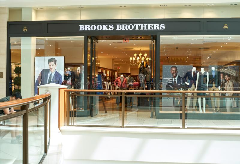 Boutique célèbre de Brooks Brothers photographie stock libre de droits