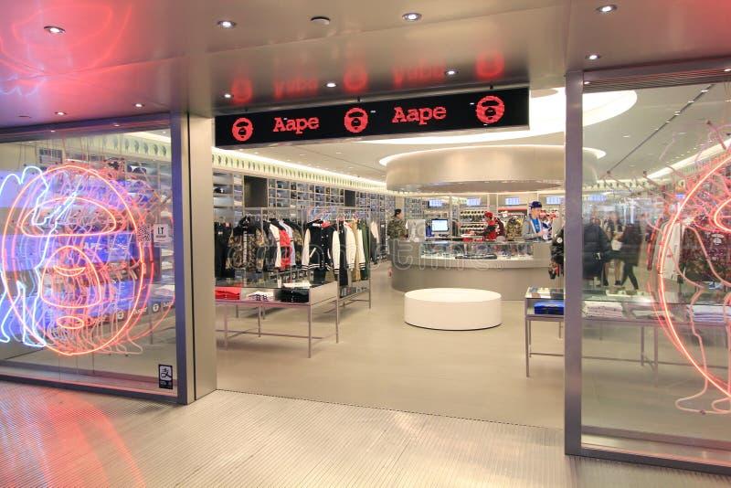 Boutique d'Aape à Hong Kong photographie stock libre de droits