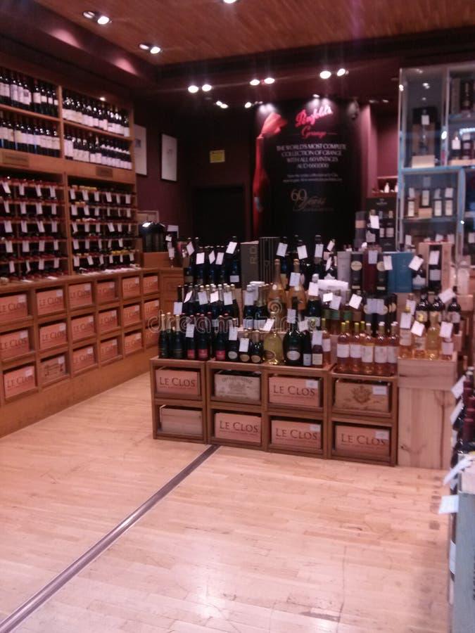 Boutique d'alcool photo stock