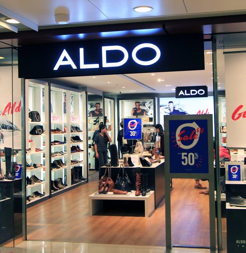 Boutique d'Aldo en Hong Kong images stock