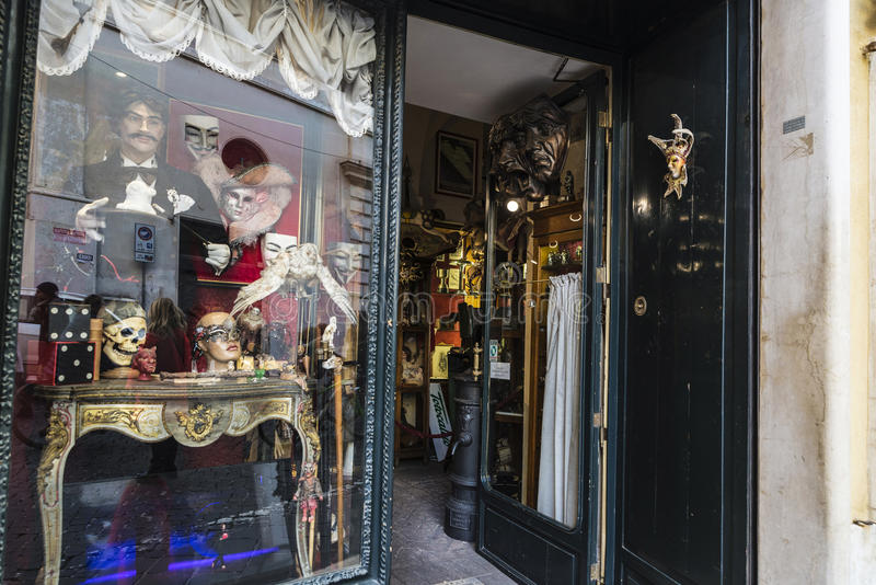 Boutique d'Eclectica à Rome, Italie images stock