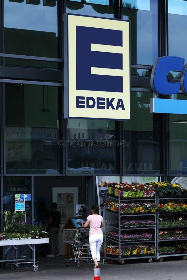 Boutique d'Edeka en Allemagne images stock