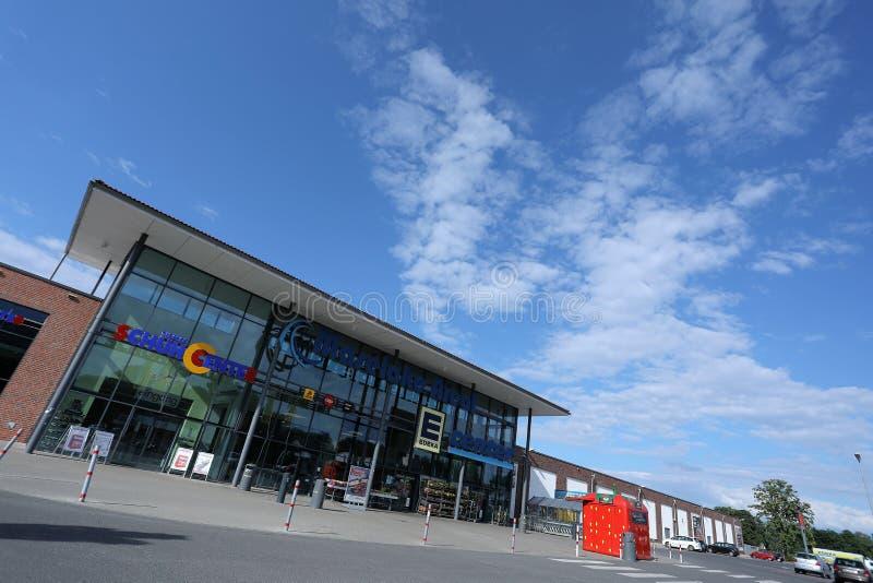 Boutique d'Edeka en Allemagne photo libre de droits