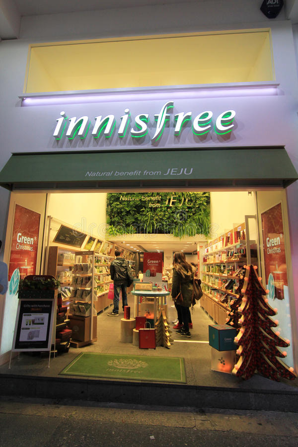 Boutique d'Innisfree à Hong Kong images stock