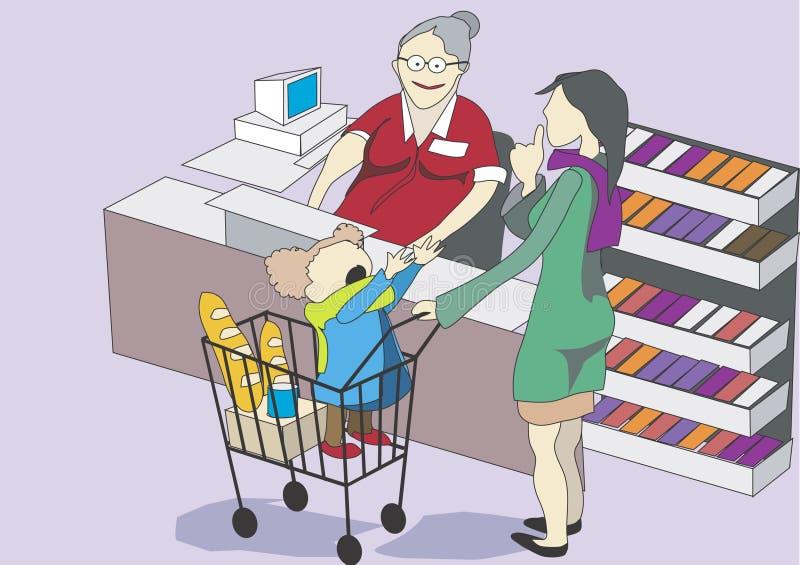 Boutique de bébé de mère photographie stock libre de droits
