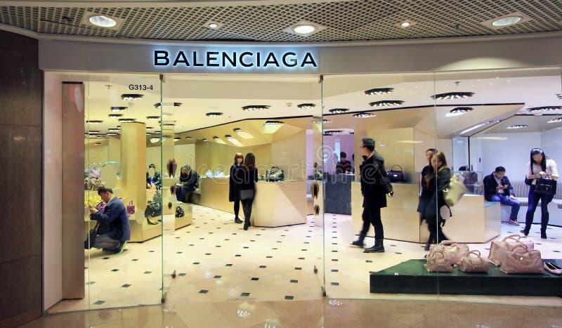 Boutique de Balenciaga en Hong Kong photos libres de droits