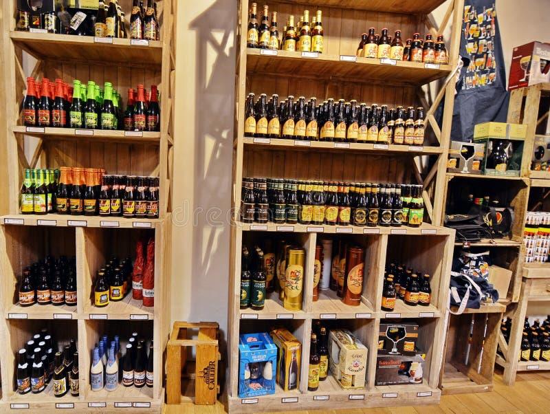Boutique de bière de Prague photographie stock