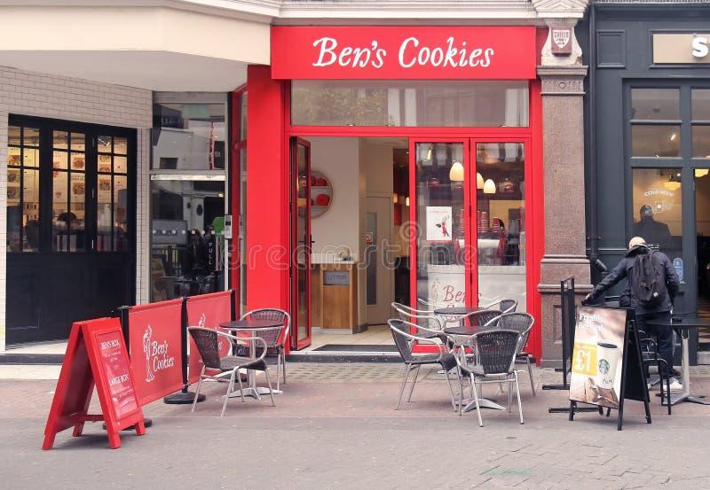 Boutique de biscuits de Ben photo stock