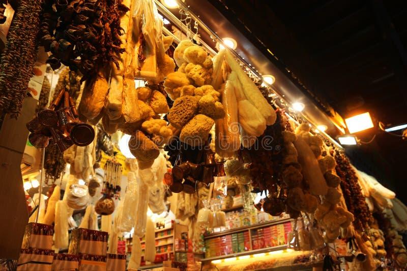 Boutique de cadeaux dans le bazar grand Istanbul photo stock