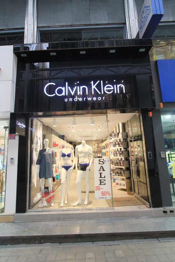 Boutique de Calvin Klein en Corée du Sud photos stock