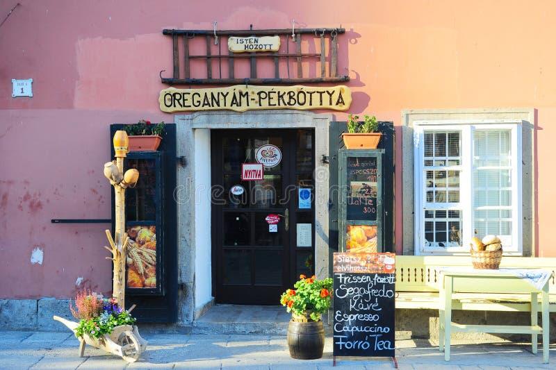 Boutique de coffe de la Hongrie photographie stock