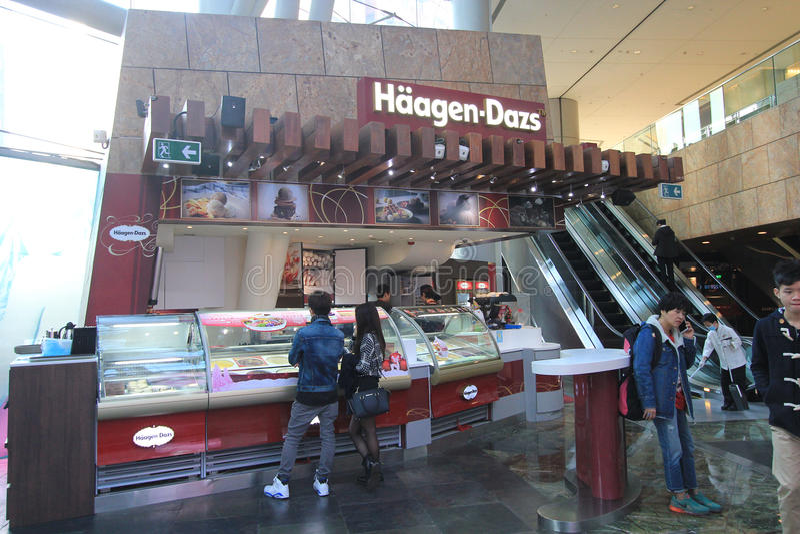 Boutique de dazs de Haagen à Hong Kong photo libre de droits