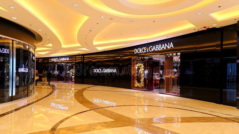 Boutique de Dolce & de gabbana, Hong Kong imagens de stock royalty free