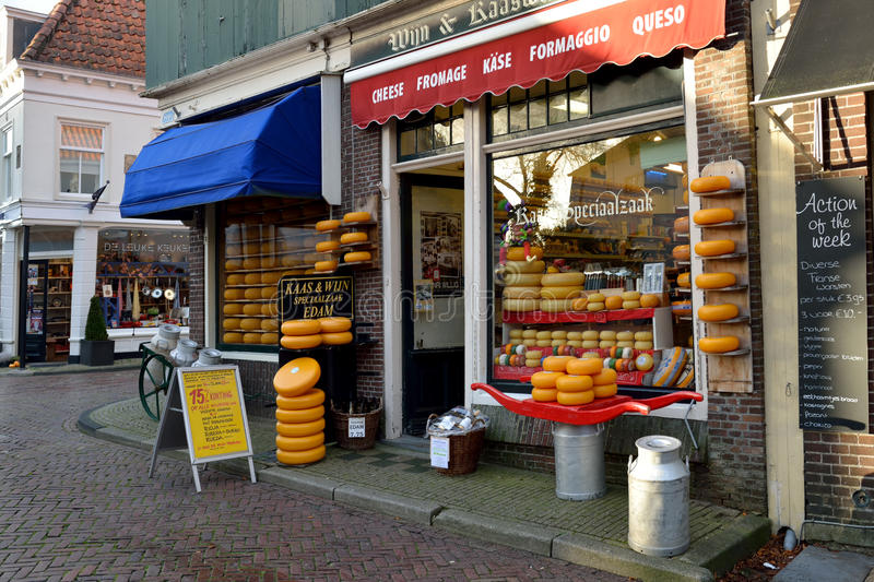 Boutique de fromage de Hollande photographie stock