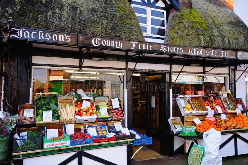 Boutique de fruit et de veg, Stafford photos libres de droits