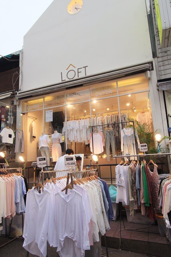 Boutique de grenier à Séoul photographie stock libre de droits