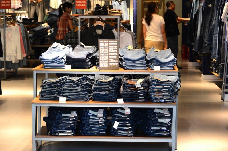 boutique de jeans image libre de droits