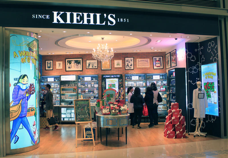 Boutique de Kiehls à Hong Kong photographie stock libre de droits