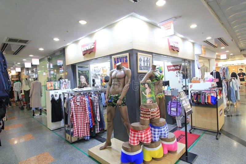 Boutique de Levis à Séoul image stock