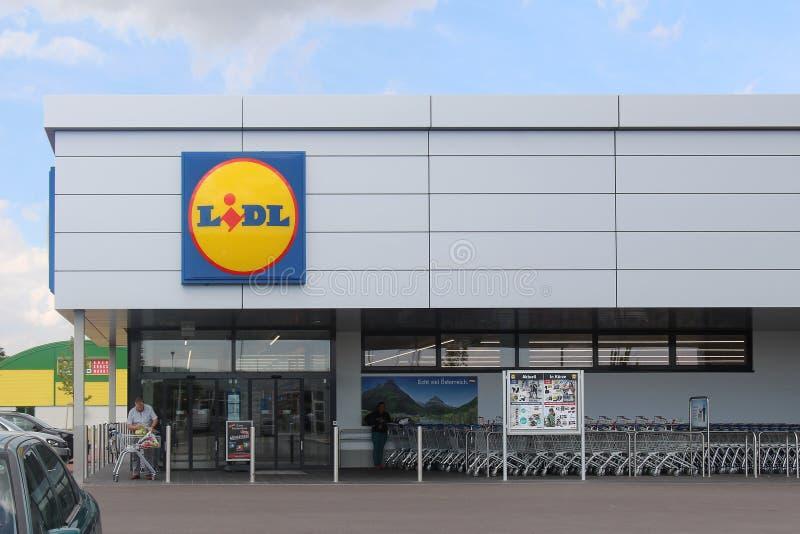 Boutique de Lidl image stock