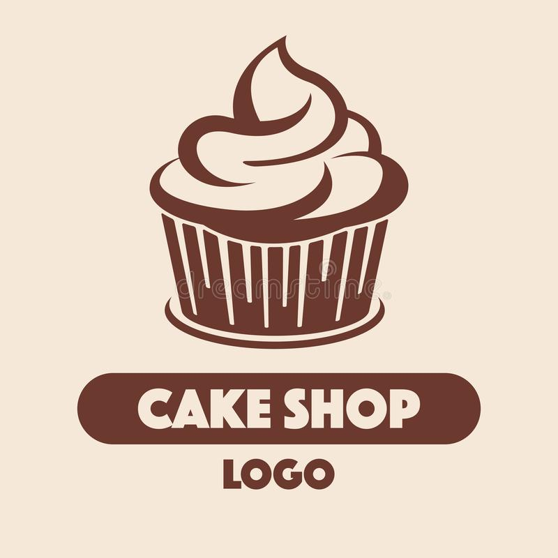 Boutique de Logo Cake illustration libre de droits