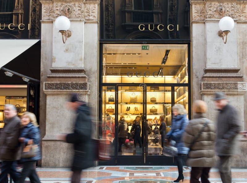 Boutique de luxe de Gucci photos libres de droits